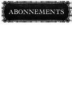ABONNEMENTS